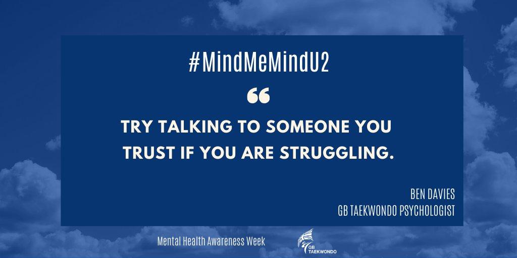 Trust your support network 💙 #MentalHealthAwarenessWeek #MindMeMindU2