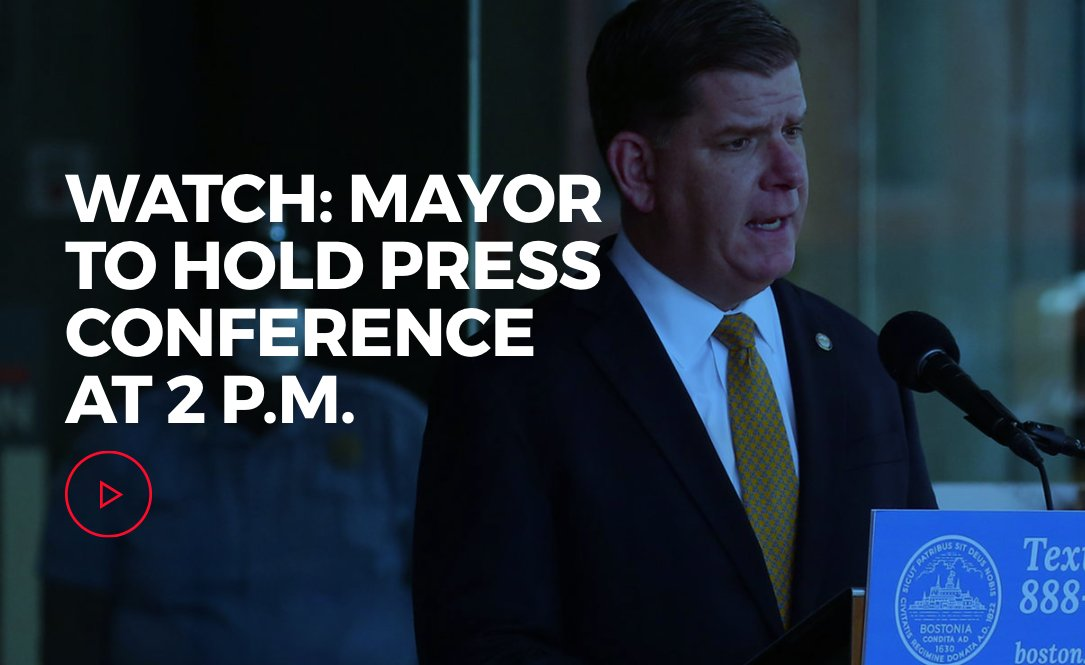 Mayor @marty_walsh will hold a #coronavirus #COVID19 press conference at 2 p.m. youtu.be/22IsVPGYbUM