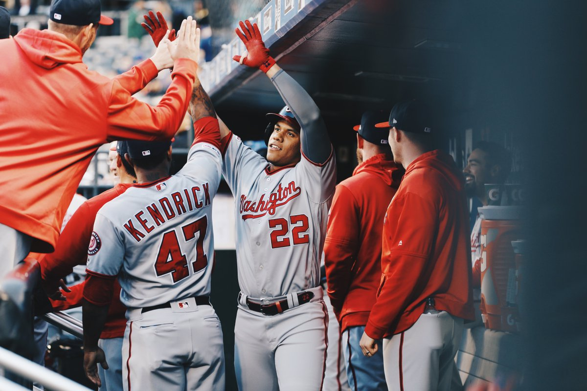"""Juan Soto after being labeled """"not a HR hitter:"""" • CRUSHES an upper deck HR • Hits 27 more HRs (34 on the year) • Hits HR off Kershaw in NLDS Game 5 • Hits 2 WS HRs off Cole • Hits WS HR off Verlander • Wins World Series @JuanSoto25_ // #NATITUDE"""