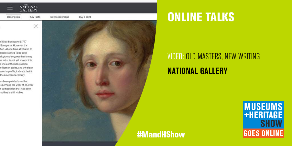 #MandHShow goes online! 2020 Talks: Old masters new writing with @NationalGallery @rgs1510 show.museumsandheritage.com/talks-2020/