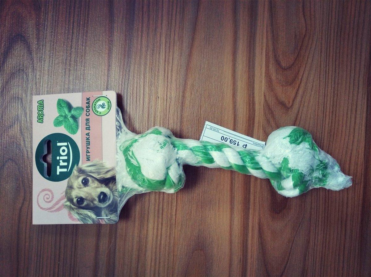 """Игрушка для собаки Верёвка с ментолом (2 узла) 159 руб. Магазины """"Кенгуру-shop"""" в Кирове: ул. Горького, 5а ТЦ Джам Молл. ул. Упита 13 e-mail: info@kenguru-shop.com Заказать корма для собак на дом можно здесь: http://kenguru-shop.com/dogs #KENGURUshop #ilovedogs #dogs #корма_для_собакpic.twitter.com/aw8YCqf2uz"""