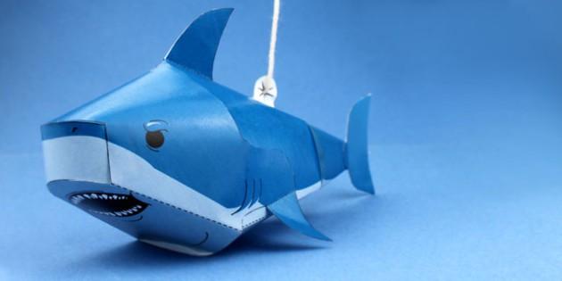Razcapapercraft: 3D origami Shark   315x630