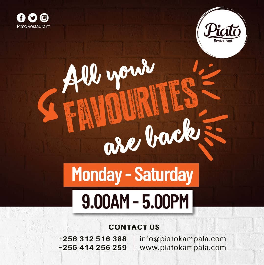 Piato Restaurant A Twitter Dear Our Esteemed Customers We Are Happy To Announce That The Temporary 2 Months Lockdown Finally Comes To An End Today We Will Be Open Starting Tomorrow For