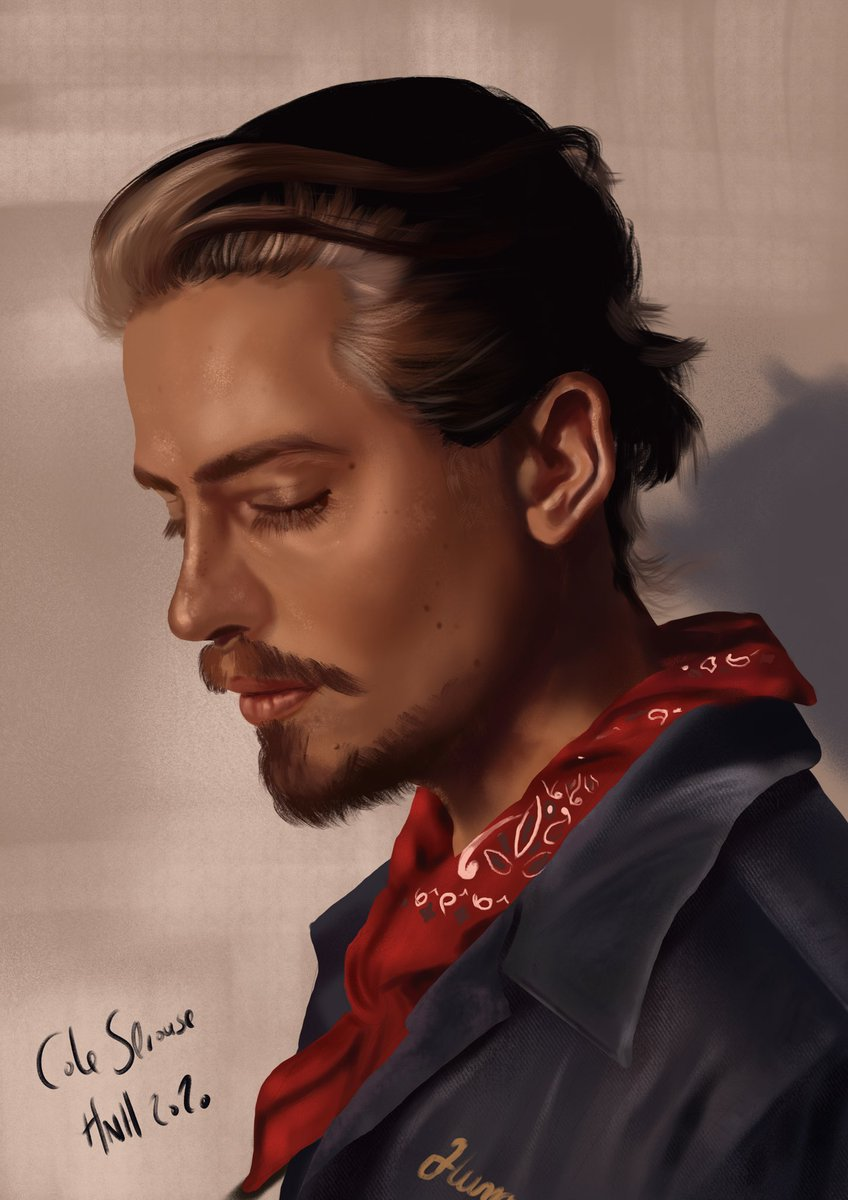 Cole Sprouse, finished piece. Probably my most complete portrait I've done, I spent a few more hours on it than I usually would.   @Procreate #digitalart #digitalpainting original photograph #alexhainer, painted from scratch using an iPad Pro and Apple Pencil.