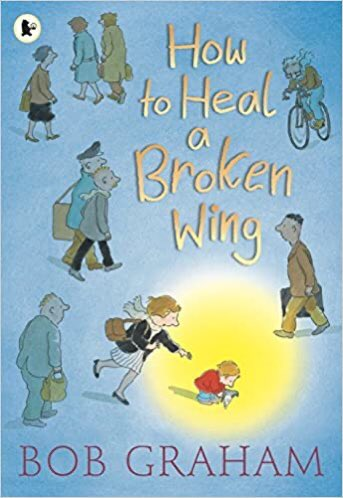 """10 Day picture book challenge. One book, 3 word summary.  Day 5: """"How to Heal a Broken Wing"""" by #bobgraham * (published by @BIGPictureBooks )   Quiet. Gentle. Magnificent.  I nominate @MuinteoirCarol   * I agonised about which one of his to choose. They are all perfect. https://t.co/GkFnRbD7Kb"""