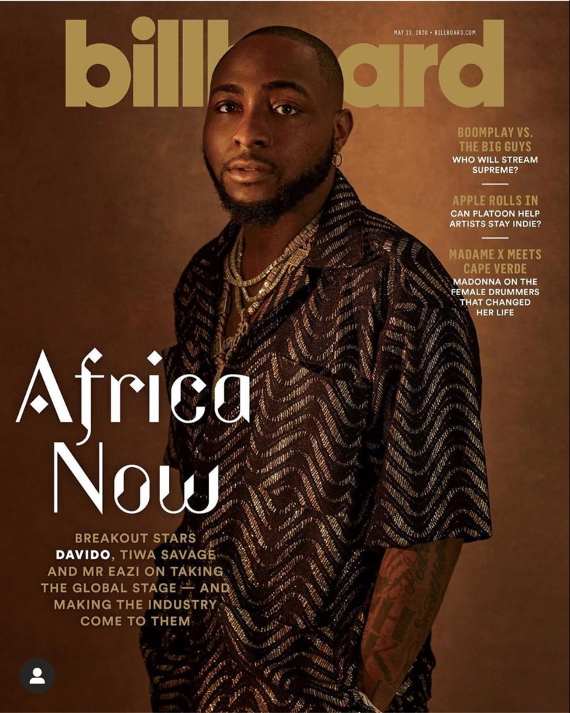 """I cover magazine I cover magazine !!! 🌎🌎🌎 @billboard Cover with my sister @tiwasavage  and brother @mreazi !!! 🙏🏿 .... """"The forces that unite us are intrinsic and greater than the superimposed influences that keep us apart."""" – Africa Must Unite ! I DREAMT OF THIS SHIT!! ❤️❤️ https://t.co/bUT8F8EY9N"""