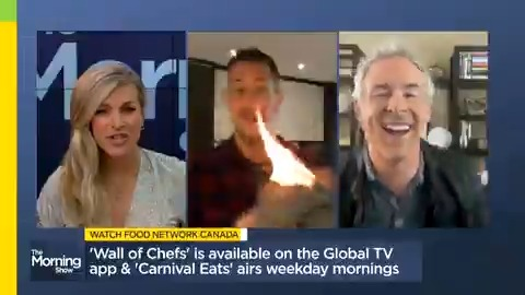 Maybe birthday cakes just arent our forte...Watch @noahcappe accidentally light a blanket on fire during this mornings show 😂🎂🔥 MORE: globalnews.ca/video/6968441/… @jmacspeaks @carolynglobal @FoodNetworkCA @CarnivalEats #WallofChefs
