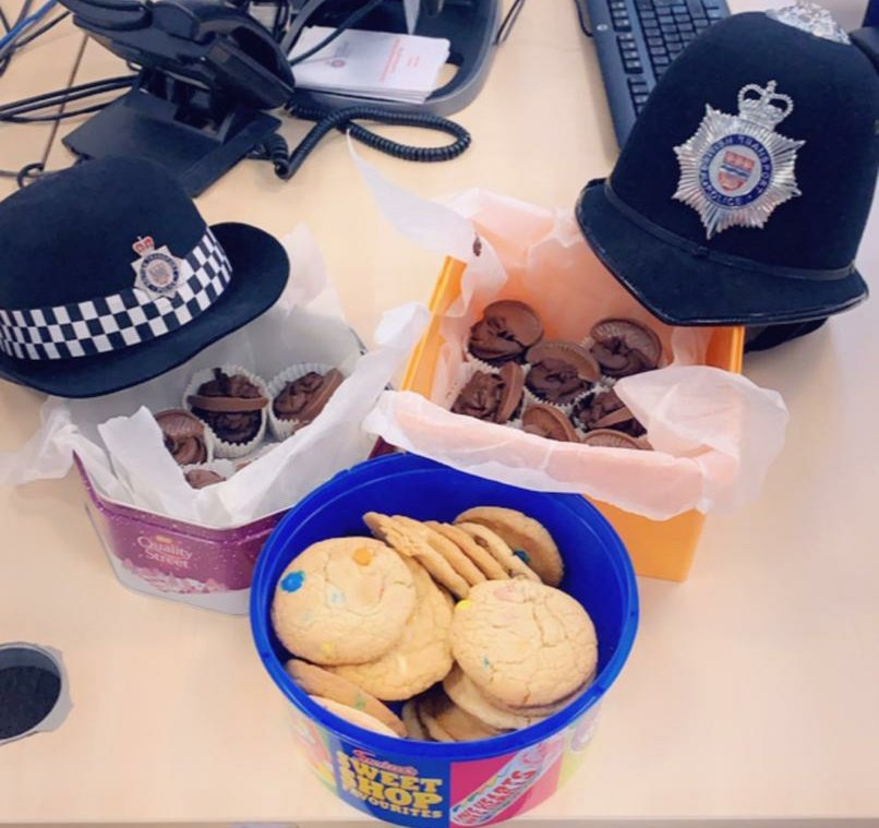 A nice morale boost for our officers who are out on patrol keeping you safe on your journey. A friend of one of @BTPWaterloos officers has baked us cup cakes & cookies to thank us for our hard work during this time. Very well recieved in the office today. #thankyou
