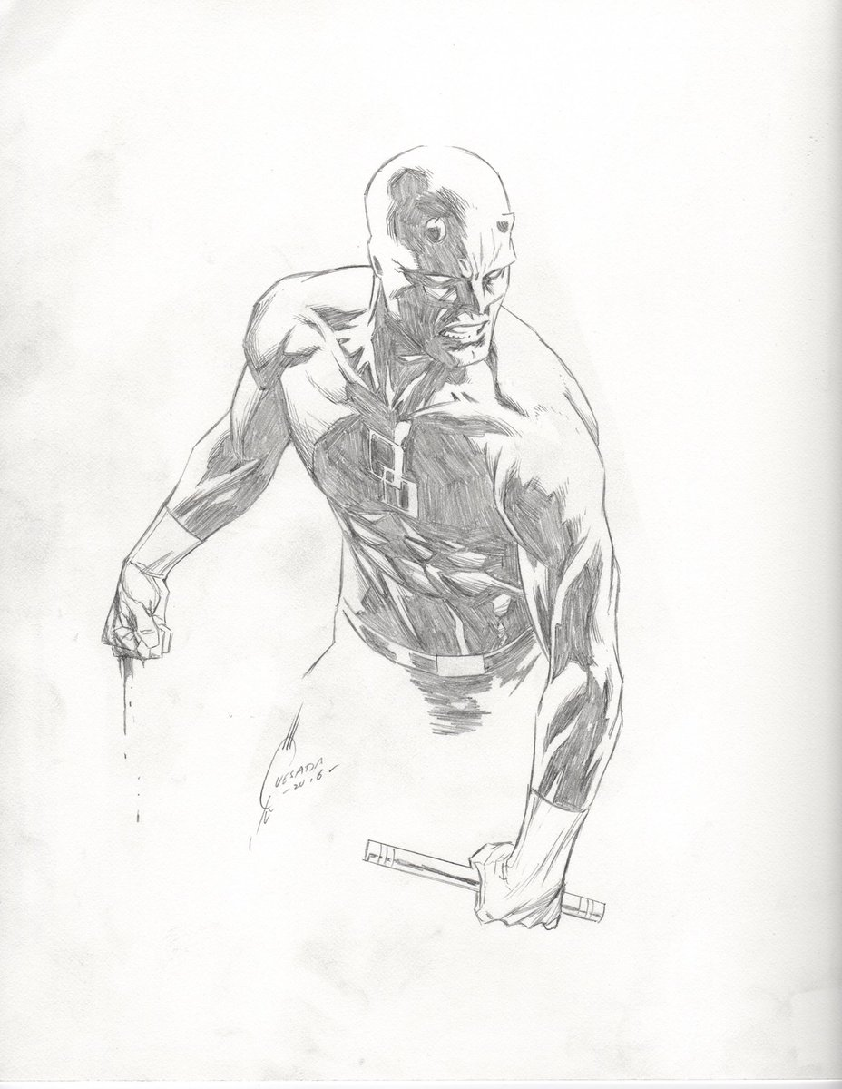 Daredevil, one punch into the fight.