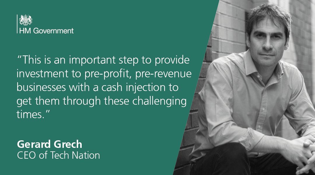 """""""We are delighted to see that the Future Fund is now open for applications and are grateful for HMT's work to ensure that as many businesses as possible can access the liquidity they need. The government's Future Fund has been welcomed by @TechNation CEO Gerard Grech."""
