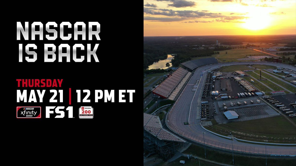 Weve got @NASCAR_Xfinity racing @TooToughToTame just in time for the lunch hour! Tune into FS1 at 11:00 AM CT for the #Toyota200