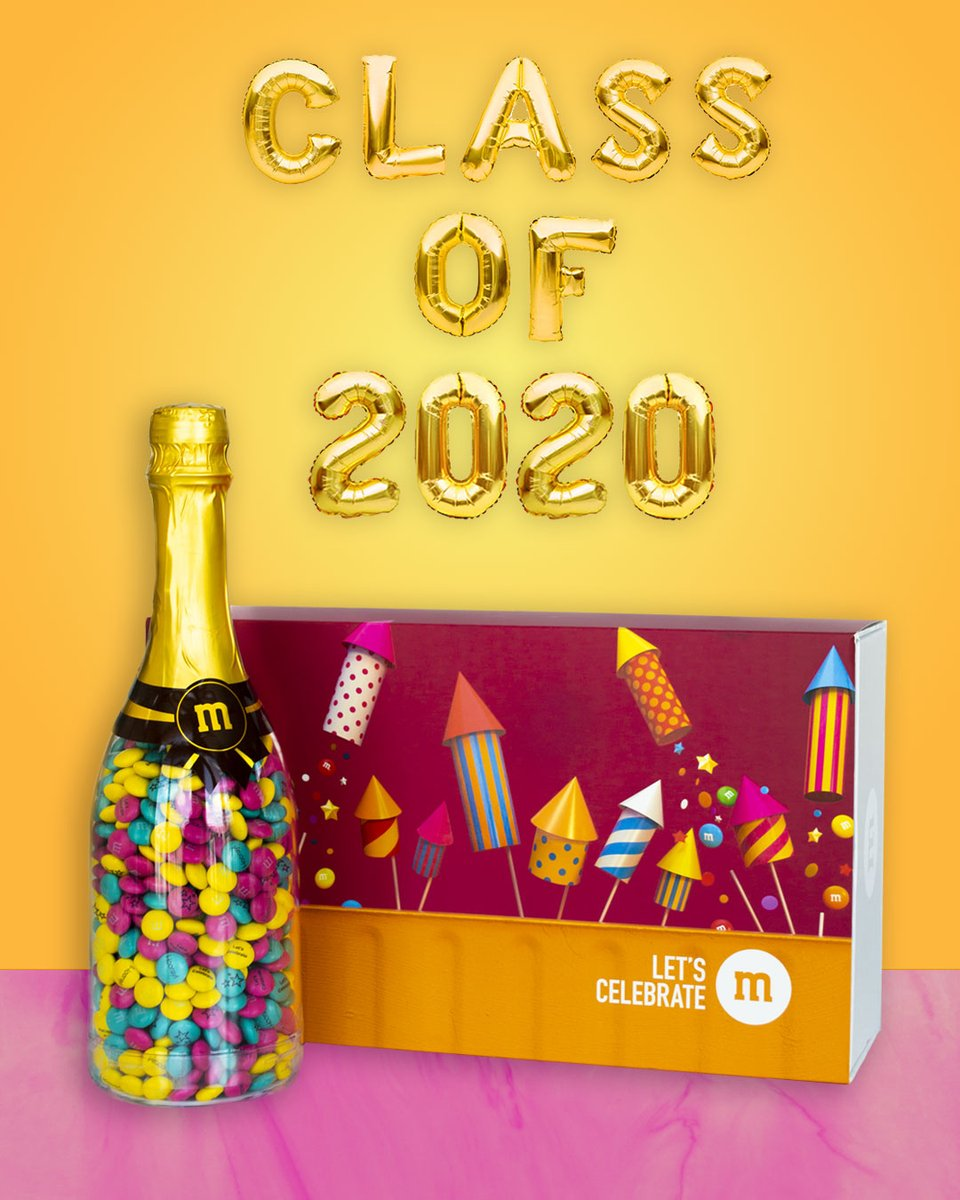 Graduation is sweeter with M. Cheers to you, Class of 2020! bit.ly/2LLKfuV