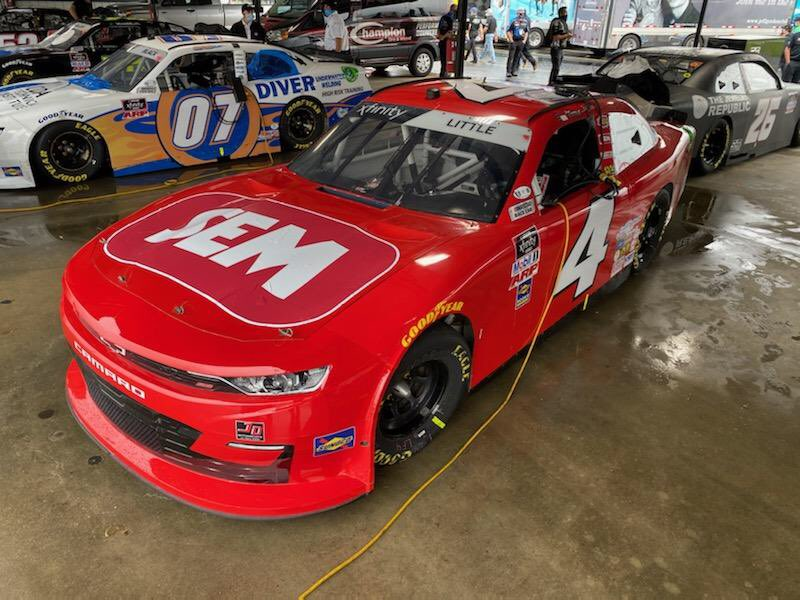 Ready to race!! Just need the rain to stop!  Good luck to @JDMotorsports01 and @jesselittle97 @TooToughToTame @NASCAR_Xfinity @XfinityRacing #semracing https://t.co/vElgpdsfcS