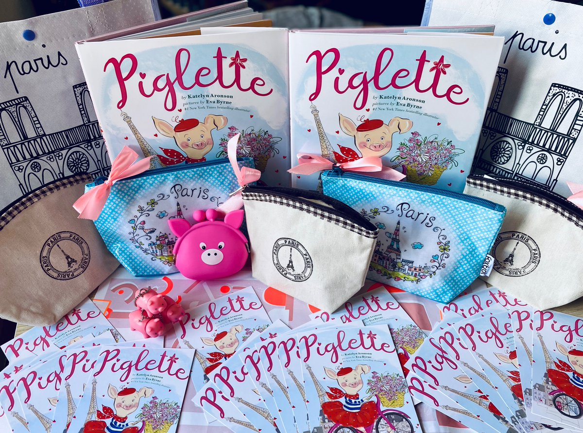 Countdown-to-Piglette #giveaway ! I'll send #swag to a bunch of lucky winners in honor of my new #picturebook PIGLETTE (out May 26th). FOLLOW + RT to ENTER  #paris #perfume #piglette #free #france #french #freebies #pig #piggy #kidlit #bookbuzz #bookswag #piglettepic.twitter.com/0pKYGaPVeS