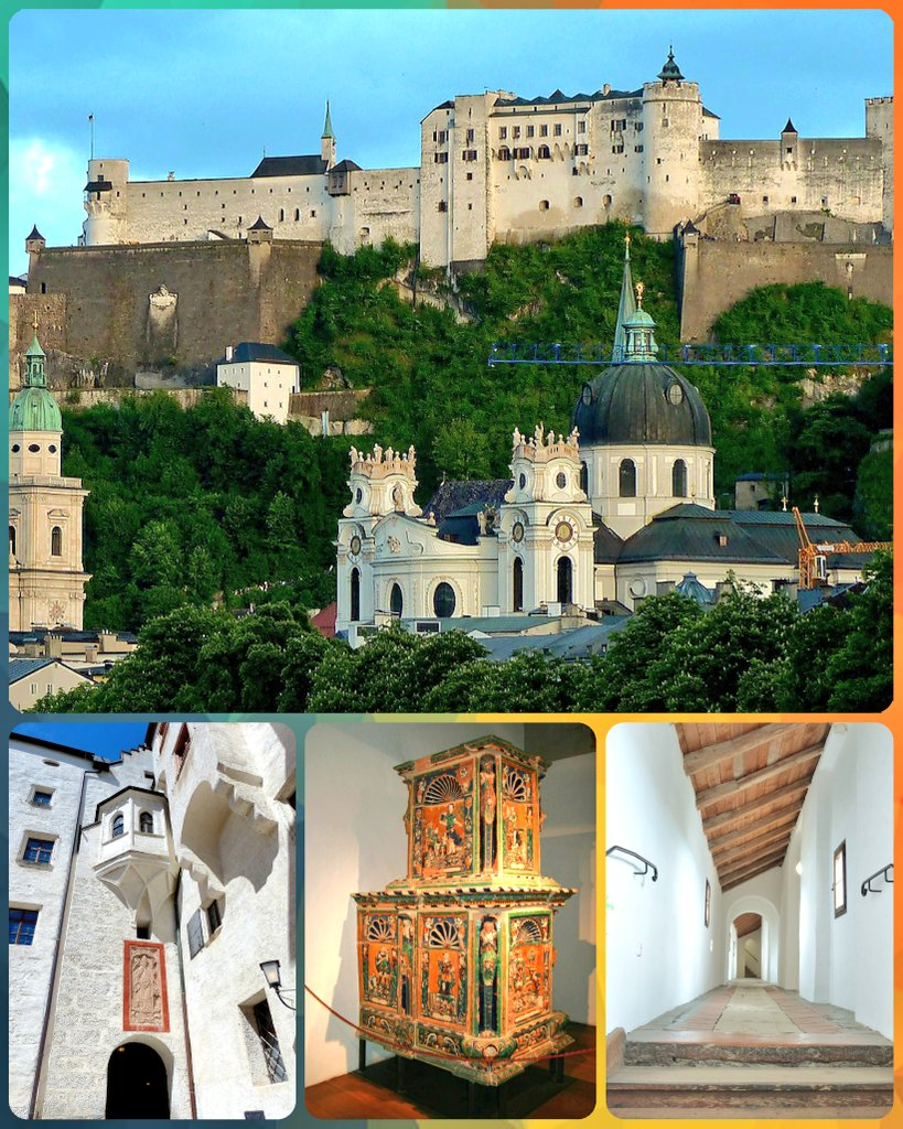 #Hohensalzburg Fortress was refurbished from the late 19th century onwards and became a major tourist attraction with theFestungsbahnfunicular railway, opened in 1892. It stands today as one of the best preserved castles in Europe.  #Salzburg #Austria #architecture #heritagepic.twitter.com/ylfPcTlWxX
