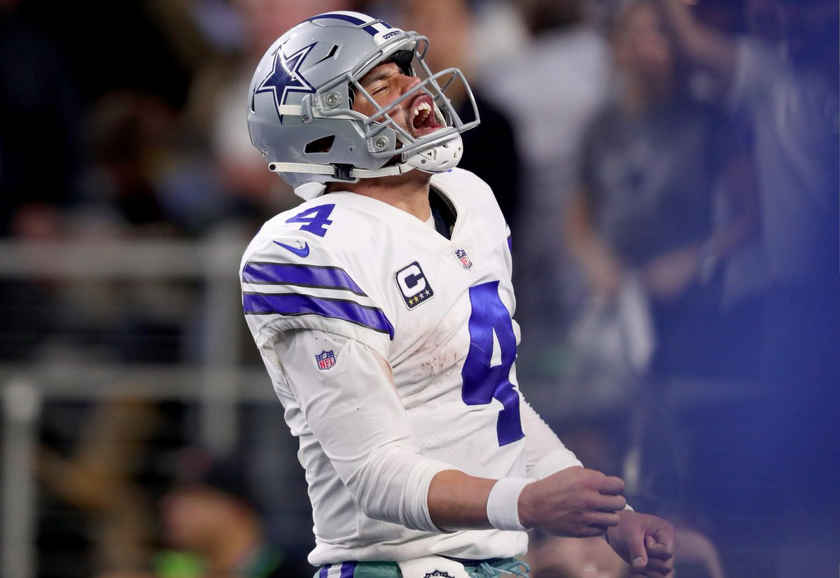 """Dak Prescott turned down a 5-year, $175 million contract offer from the #Cowboys according to @CSimmsQB   It would've made him the highest paid QB in history.  Prescott instead is seeking """"north of $45M"""" in the final season of his new deal, reportedly. https://t.co/IBYCVaxVk7"""