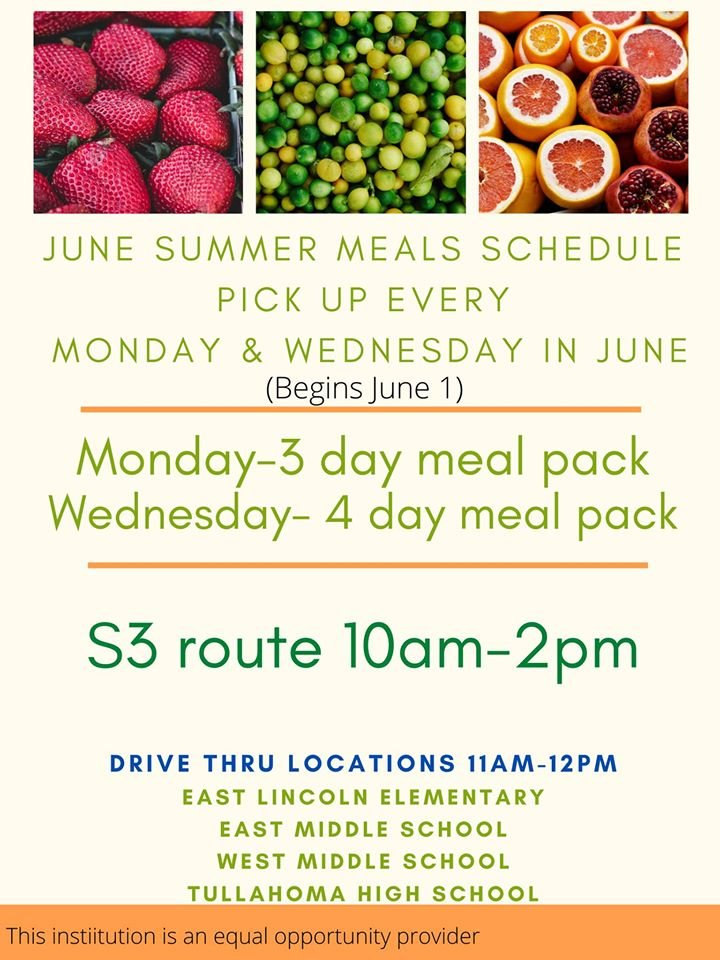 We are so happy to be a partner with Tullahoma City School Nutrition again this Summer as a pick up point. They work so hard to feed the kids of this city. https://t.co/GhPugxpuSH