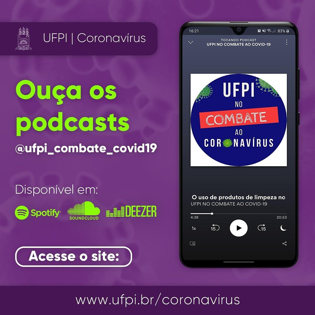 🔊 Ouça o podcast UFPI no combate ao covid-19. .  🎧 O podcast também pode ser ouvido no site  ou no seu agregador de podcasts favorito. . 📲Saiba mais pelo link:   . . . #ufpi #minhaufpi #vemparaufpi