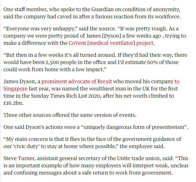 What happened to Boris Johnsons Dyson coronavirus ventilators, @MattHancock ? Dysons UK staff revolt against order to return to work