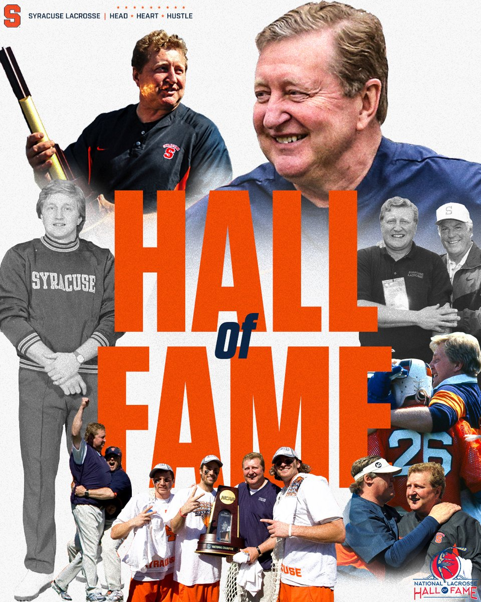 Replying to @CuseMLAX: LEGEND.  11 NCAA titles 522 wins as a head coach, assistant coach and player.  Now, a Hall of Famer.