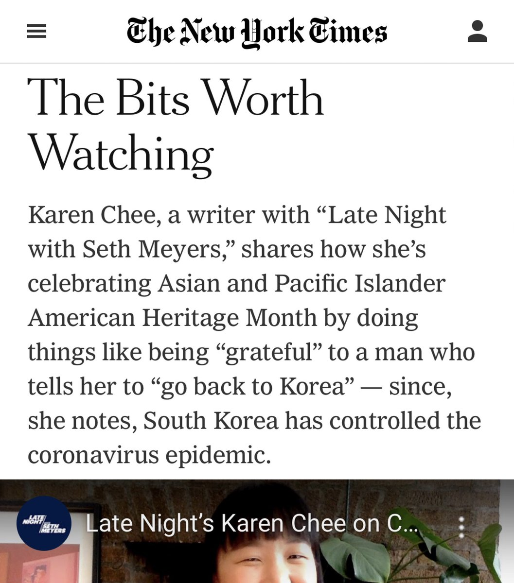 Whoa hey @nytimes !! Thank you, yay! This is exciting, especially if you're my mom!!! ✨ nytimes.com/2020/05/21/art…
