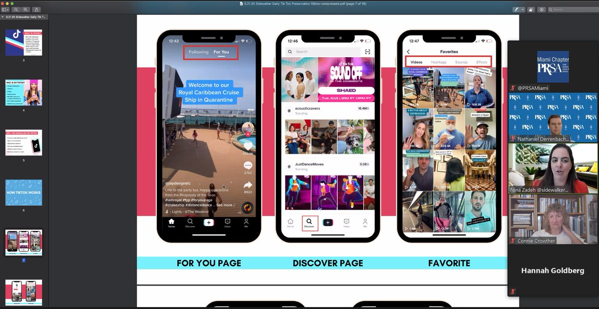 Great tips on #TikTok for business with @SidewalkerDaily and the super informative Nina Zadeh pic.twitter.com/70wVcY8d8I