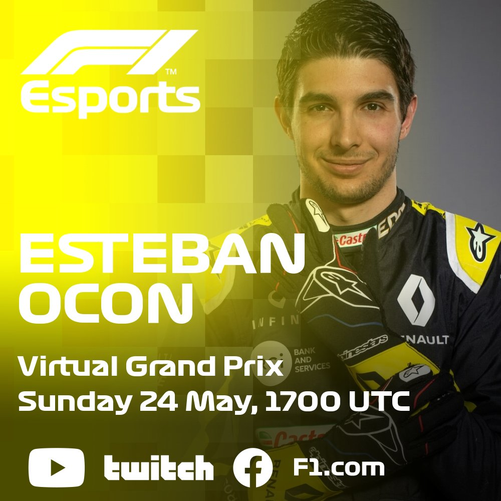 Joining the virtual mayhem... it's @OconEsteban! 👋  And the Prost name returns to Monaco too 🤩  #VirtualGP #RaceAtHome https://t.co/thkFDgKukw