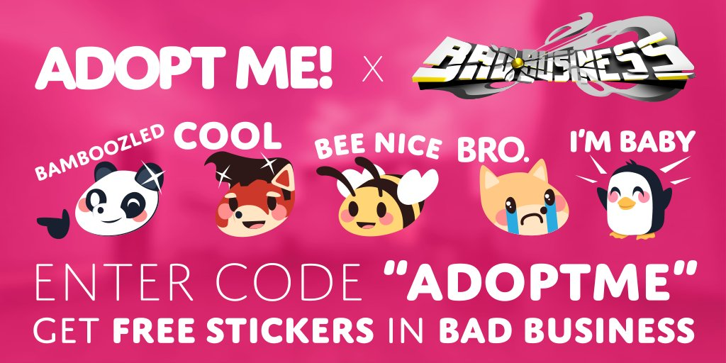 Adopt Me On Twitter You Can Get Free Adopt Me Stickers In