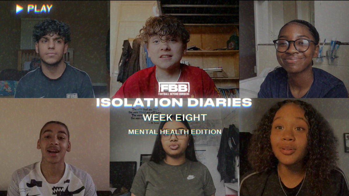 Isolation Diaries  📖 #MentalHealthAwareness Week  This week, we asked young people from the FBB Family to tell us how they cope with feeling low. 🤔  It's truly inspiring to hear them speak so openly about #MentalHealth and to hear about their range of coping mechanisms. 🙌🙏 https://t.co/4ZqDSIBsQQ