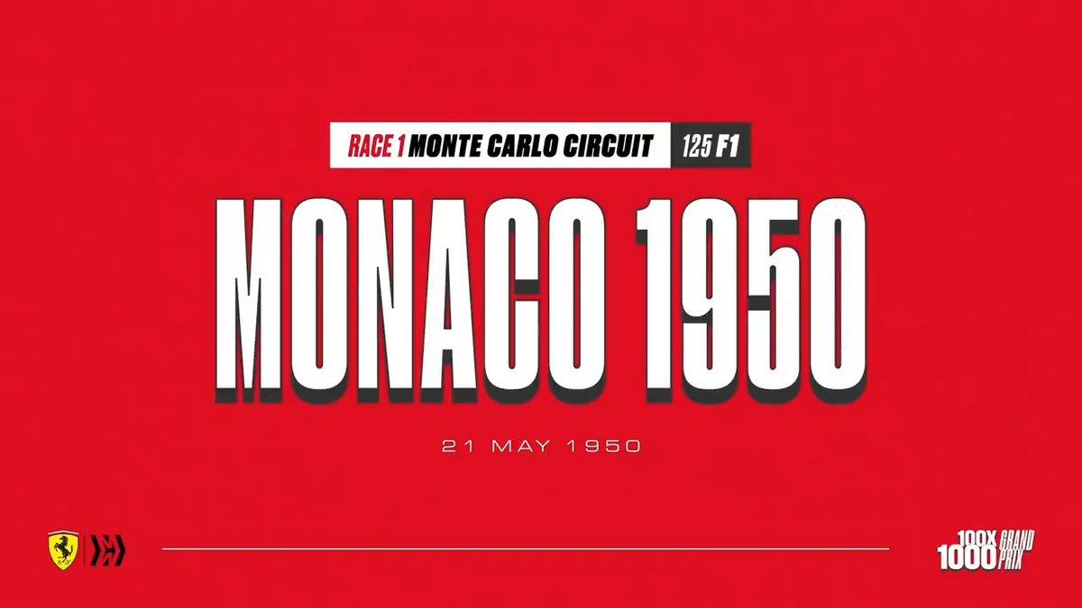 Where it all started...    📍 Monaco, Monte Carlo 🗓 May 21st 1950  👤 Alberto Ascari, Raymond Sommer, Luigi Villoresi   70 years on, relive our first ever Grand Prix on the iconic streets of Monaco 🇲🇨 📹  #essereFerrari 🔴 #100x1000GP #RoadTo1000