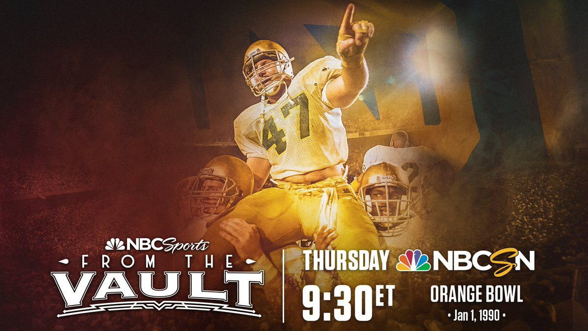 Re-live @NDFootballs win in the 1990 Orange Bowl tonight on @NBCSN! 🍀🍊🏆 During the game, tune-in to Facebook as Orange Bowl Hall of Famer @chris_zorich hosts a Q&A with over a dozen players from the game! 📺: @NBCSports 🕘: 9:30 PM ET 💻: facebook.com/officialchrisz…