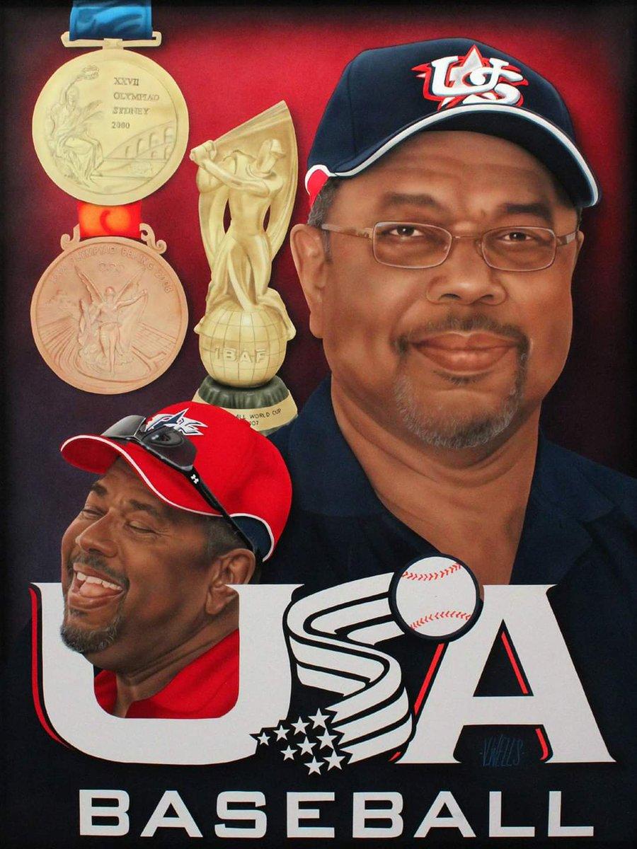 Painting of #bobwatson from his @USABaseball days #BaseBall #usabaseball #Olympic