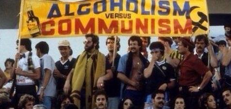 Scotland fans vs the Soviet Union, 1982 World Cup in Spain - 'Alcoholism vs Communism' 🏴🍻