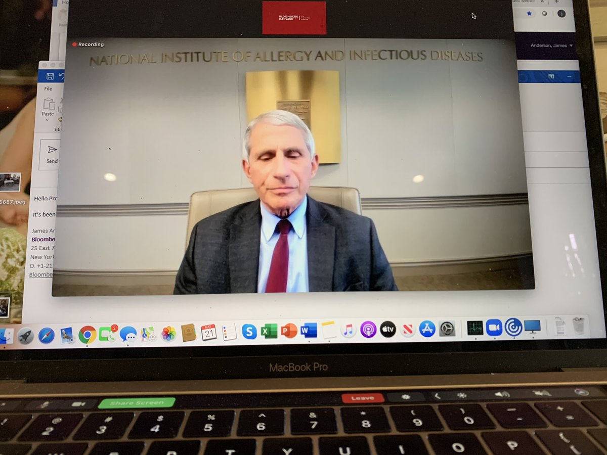 Awesome to have the one-and-only Dr. Anthony Fauci join today's virtual session with hundreds of mayors and city leaders. #COVID2019 <br>http://pic.twitter.com/9ZnwMJXRjS