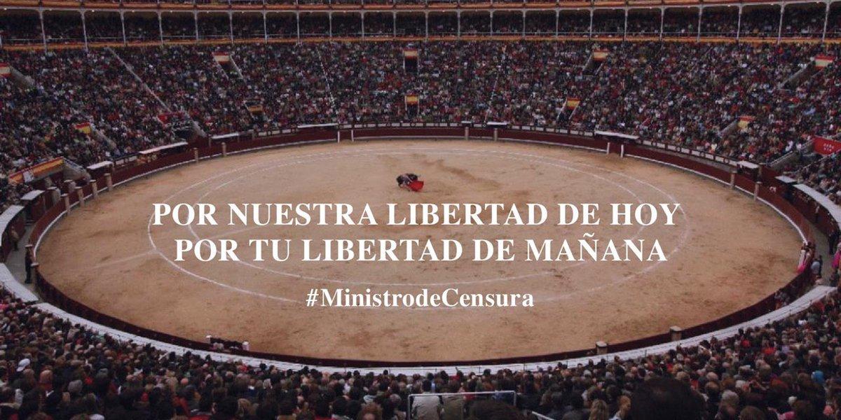 #MinistrodeCensura ! Pertenecemos al Ministerio de Cultura, exigimos los mismos derechos que las demás industrias culturales. @jmrdezuribes @culturagob. https://t.co/Dpkku7wysq