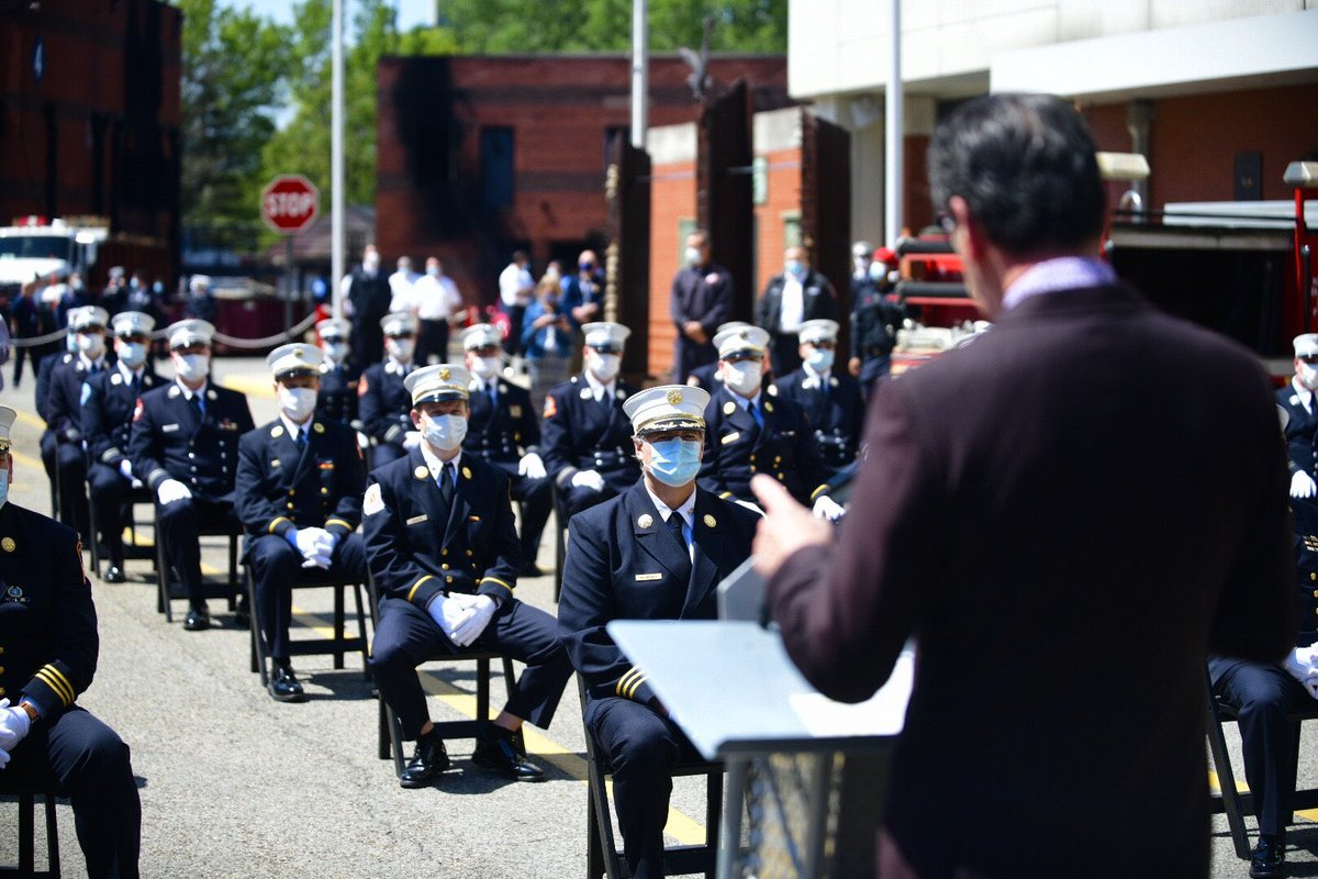 FDNY Commissioner Daniel A. Nigro presided over a closed promotion ceremony today for 47 Fire and EMS Chiefs.