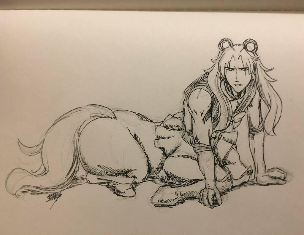 This is a request: Sailor Chiron  #fgo #fatego #fategrandorder #chiron #rider #sailormoonredraw #fanart #sketchtweetingpic.twitter.com/urML4ZsNgK