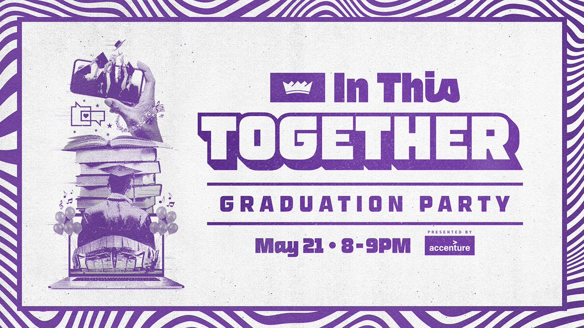 🎓🚨 Graduation Party Day!   Join the Kings for the #InThisTogether Graduation Party LIVE on YouTube tonight at 8PM PT presented by @Accenture_US  ➡️ https://t.co/DxQjJXcfxt https://t.co/jhDfCH3GUT