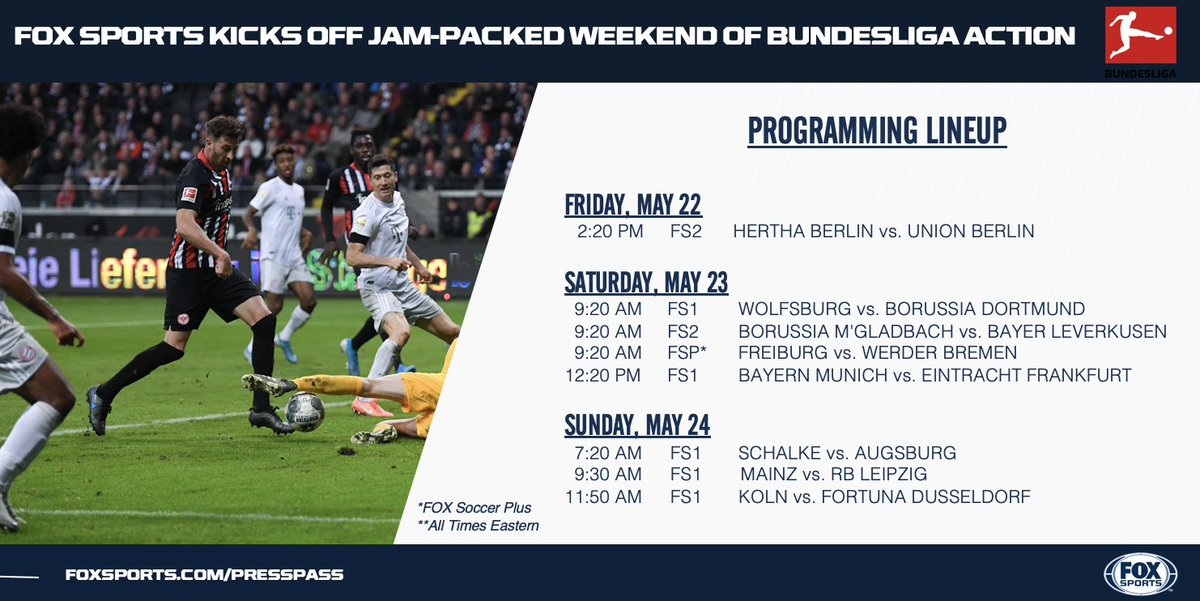 We've got a fresh lineup of @Bundesliga_EN matches to keep you occupied this long weekend!👇⚽️