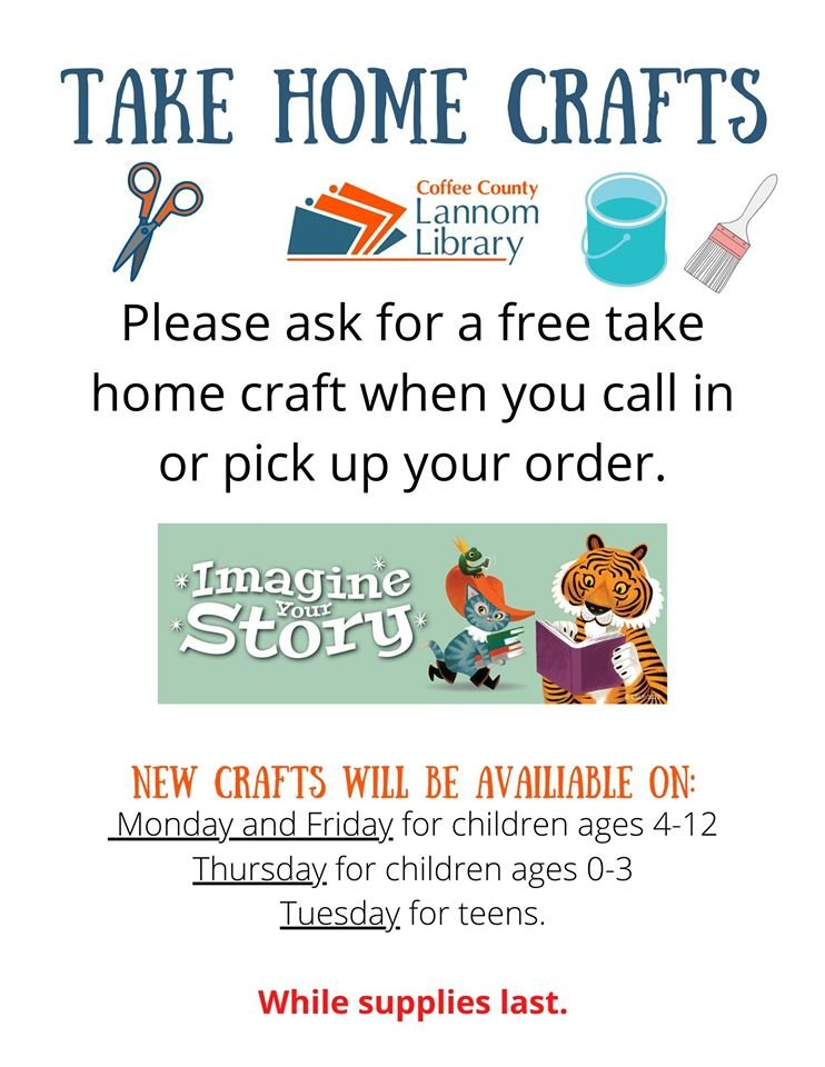 Take Home Craft Bags. Starting Friday May 22nd. While supplies last. https://t.co/1Je1ssnY8r