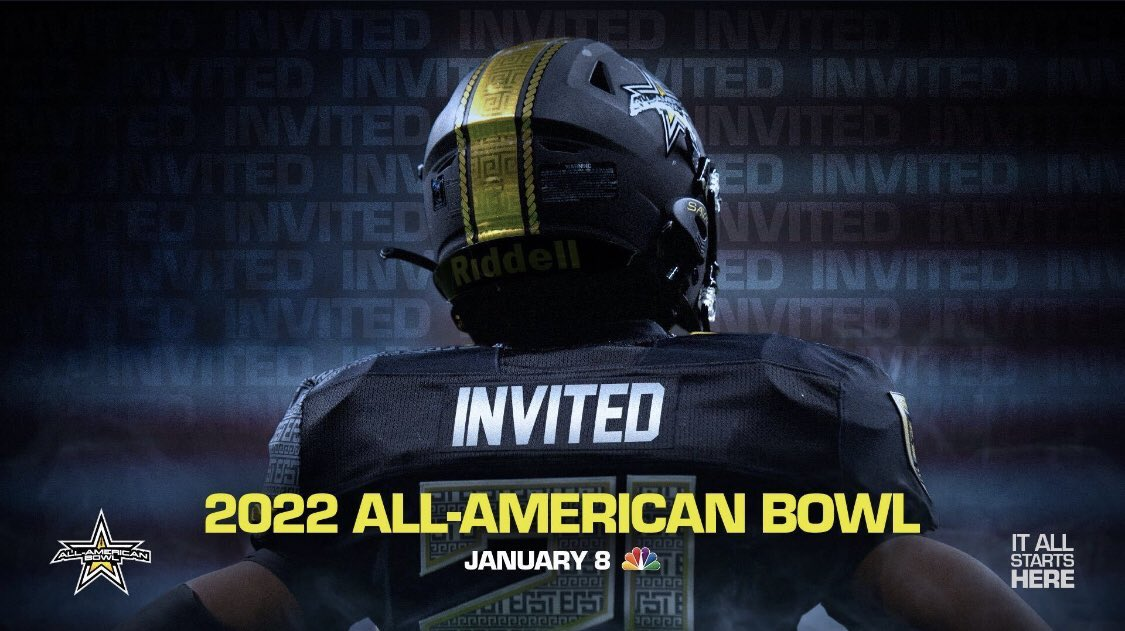Beyond Blessed to receive an invite to the 2022 All American Bowl @BrianDohn247 @CoachHarless55