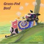 Image for the Tweet beginning: #GrassFedBeef by @LTCartoons #beef #organic