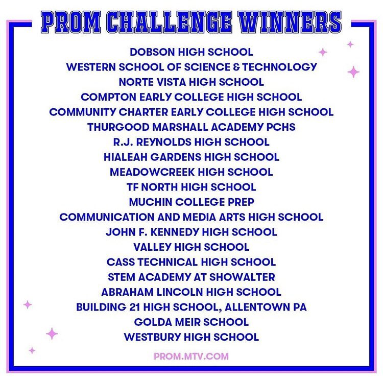 MHS are winners of the @whenweallvote and @MTV #promchallenge with helping students register to vote. We've won an invite to the MTV virtual prom-athon🎫!!! To get your virtual prom ticket go here to —>