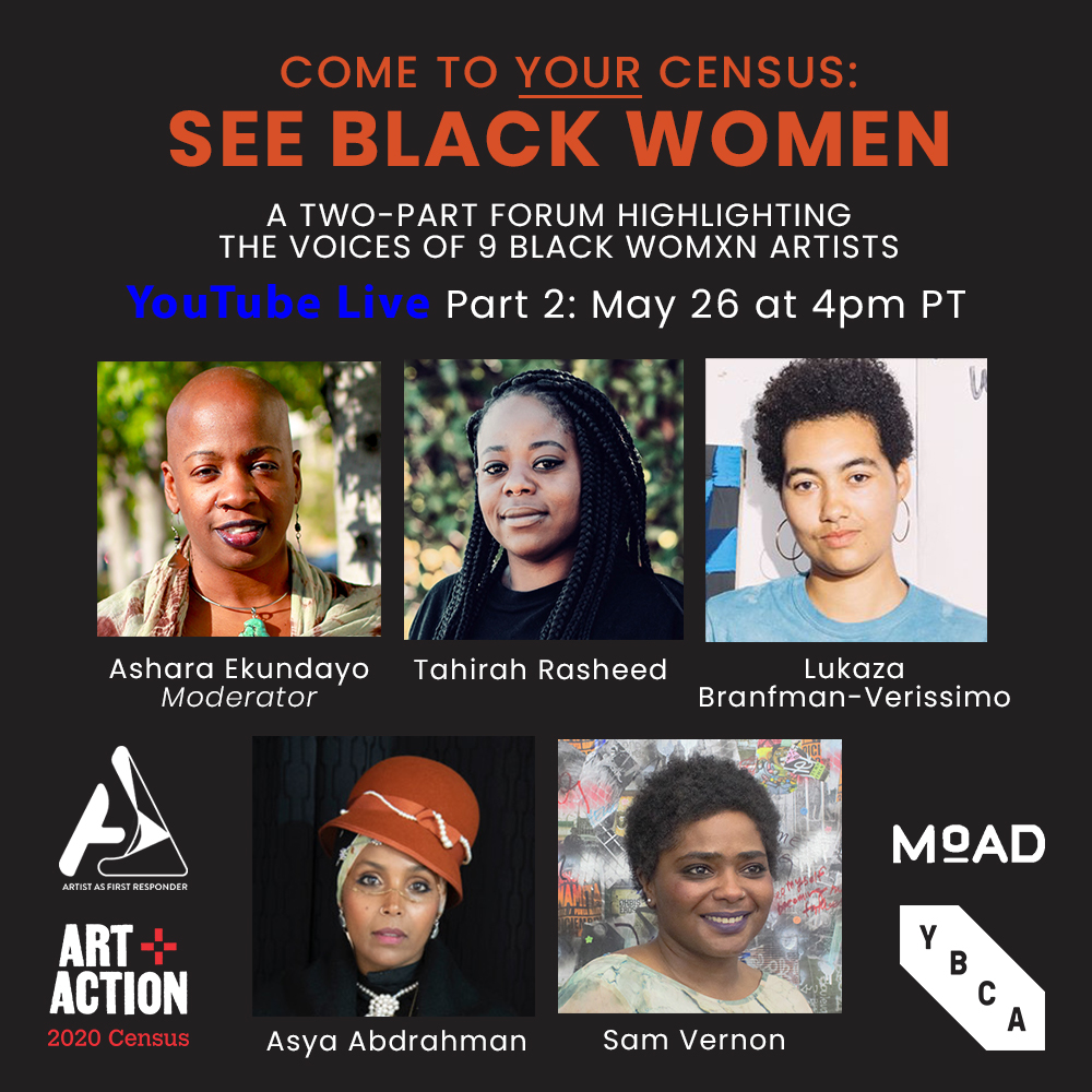 Right now, live on @Facebook live, @MoADsf #SeeBlackWomen panel discussion feat Black womxn artist/activists.