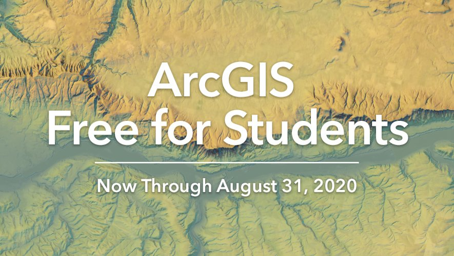 RT @Esri: Have questions about our free student licenses via Learn #ArcGIS? Check out our FAQ section here: http://ow.ly/biSg50zE65j  #COVID19pic.twitter.com/PlAnb2YX7K