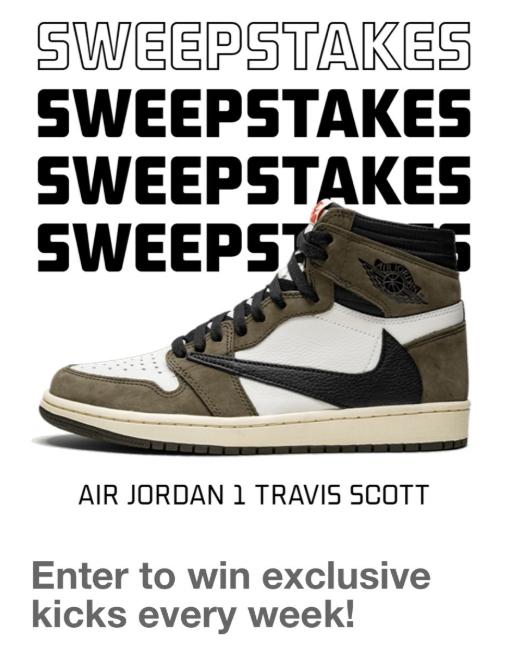 Travis Scott x Air Jordan 1 Sweepstakes