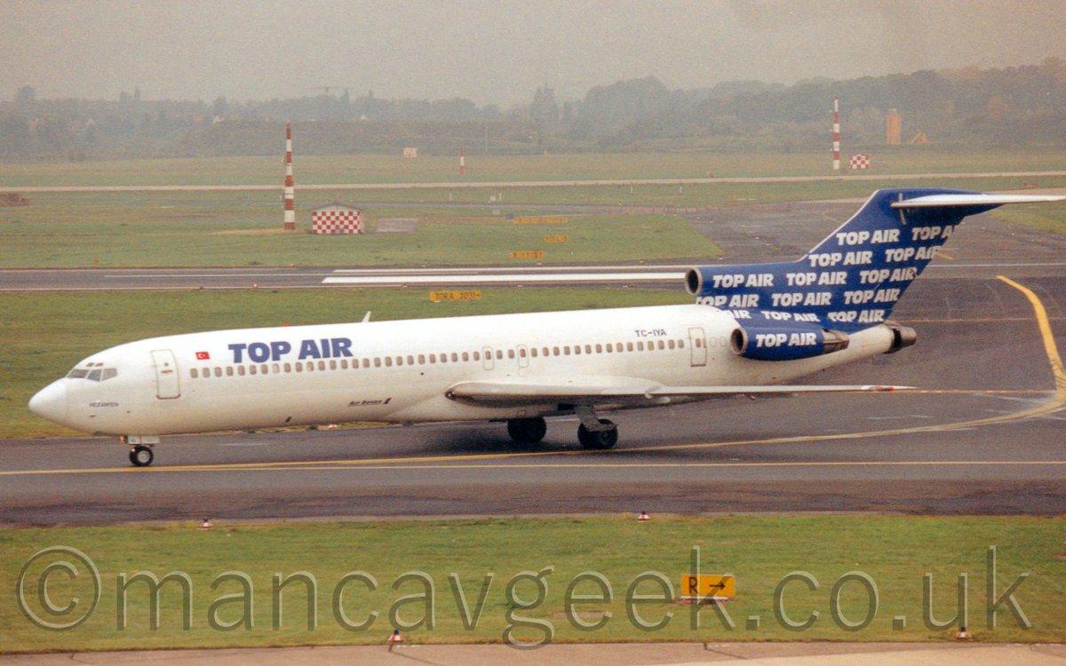 Bonus Photo of the Day 2020-05-21. TC-IYA, Boeing 727-2F2, Top Air, at Dusseldorf Airport, 11th October 1996. #avgeek #planespotting #potd #dusseldorf #dus #eddl #boeing #b727 #topAirpic.twitter.com/XrRIWsQoDR