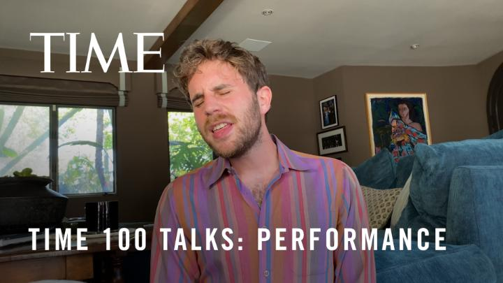 """Watch @BenSPLATT's special performance of """"Grow as We Go"""" from the #TIME100Talks"""