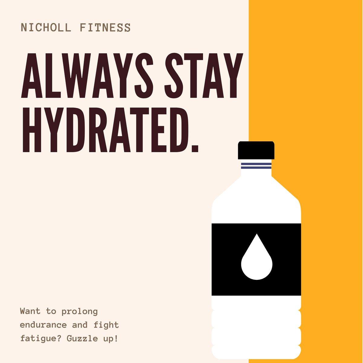 Hydration is key  #Hydration #nutrition #drinkpic.twitter.com/d54l46Fnq4