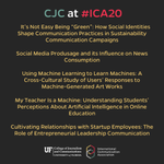 Image for the Tweet beginning: CJC's acclaimed faculty are presenting